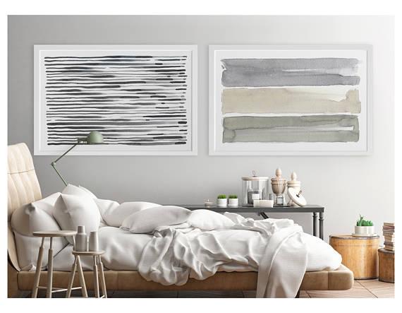 Large Wall Art, Contemporary Wall Art, Horizontal Wall Art, Abstract ...