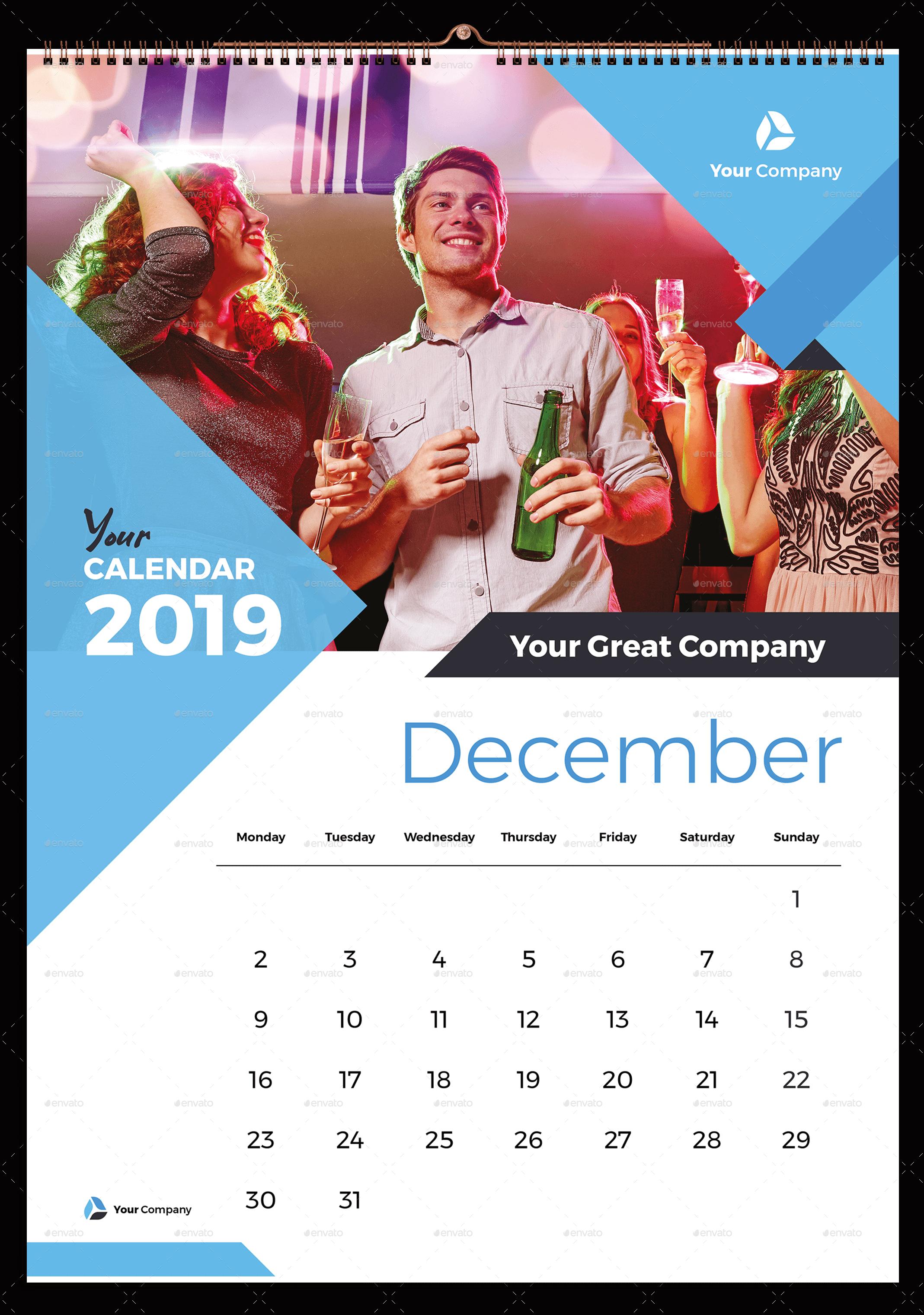 Wall Calendar 2019 Wall Calendar Desain
