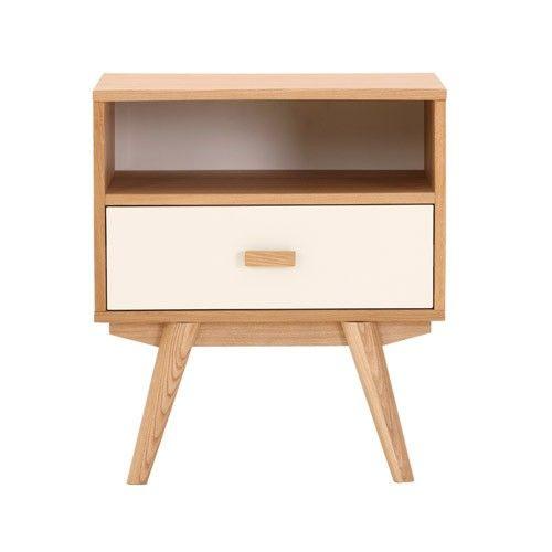 sofia bedside table 1 drawer 1 shelf scandinavian. Black Bedroom Furniture Sets. Home Design Ideas