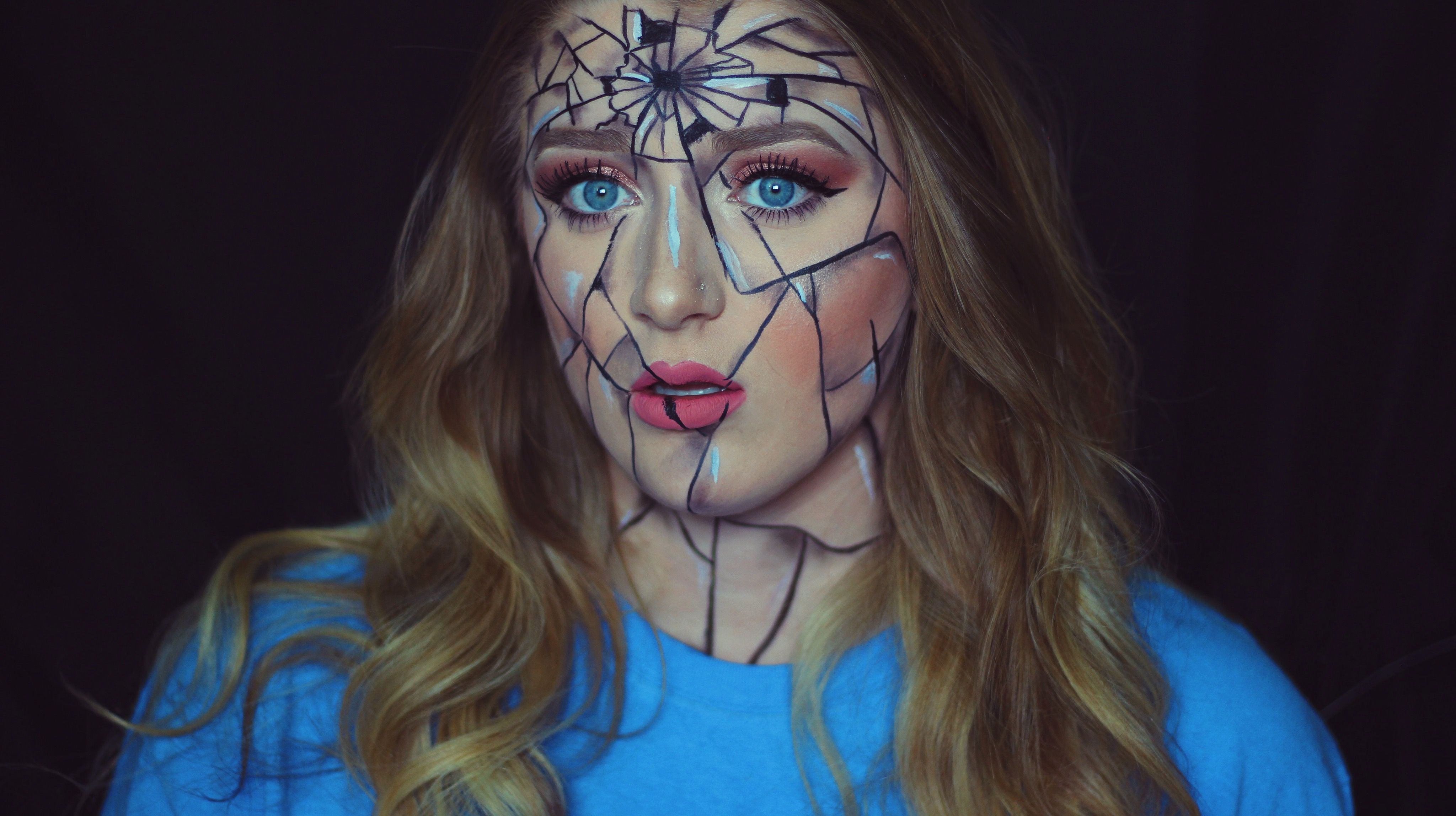 shattered face