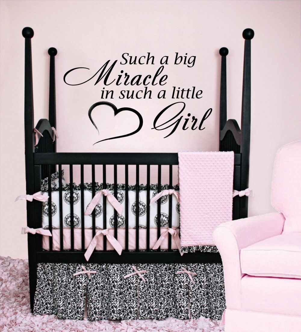 wall decals quotes such a big miracle in such a little girl vinyl