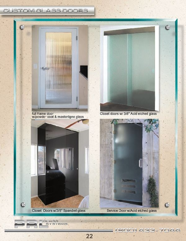 Full Lines Of Custom Tempered Glass Doors Ranging From Clear Textured And Spandrel Glass Tempered Glass Door Glass Door Glass Entrance Doors
