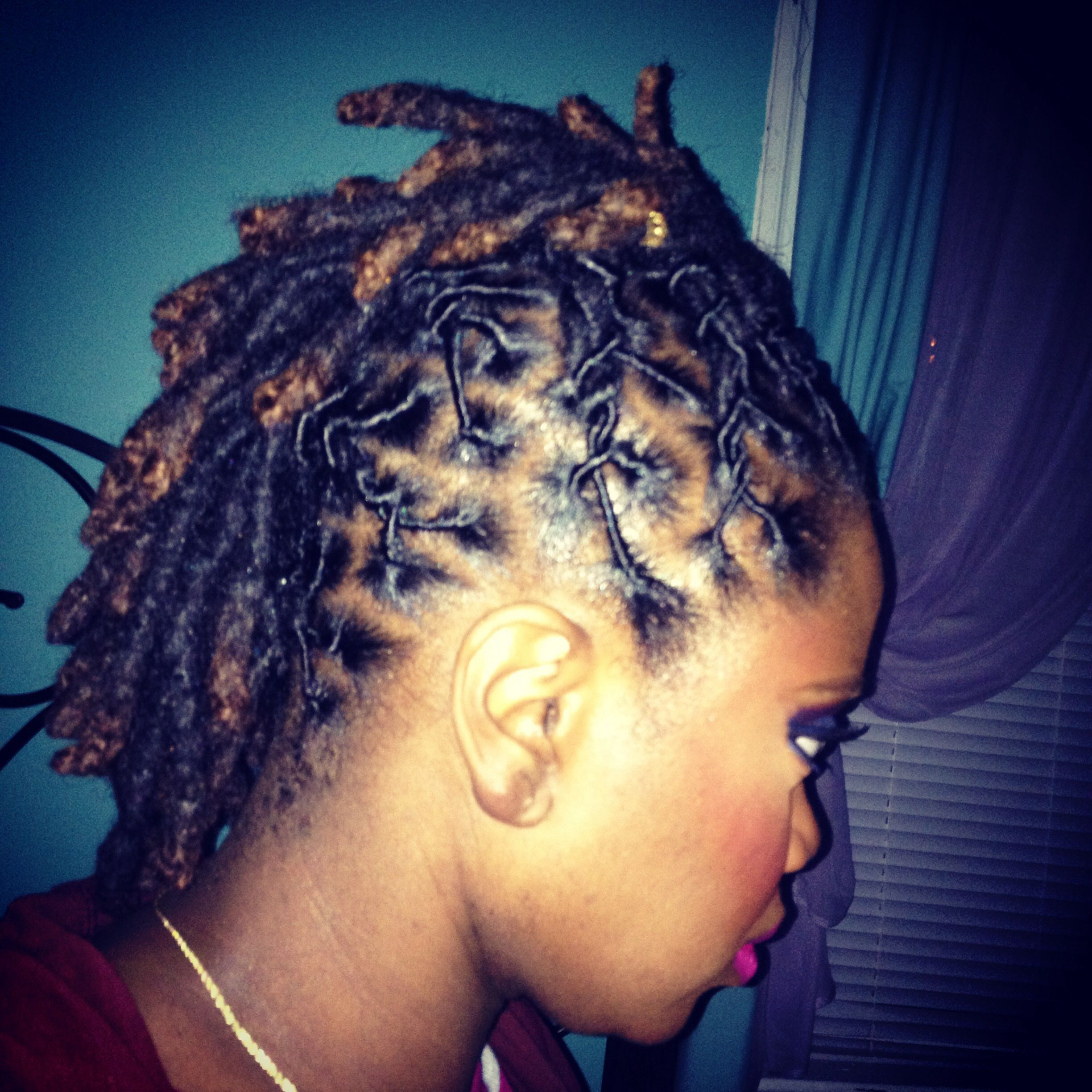 Short loc mohawk older black women with locs pinterest mohawks
