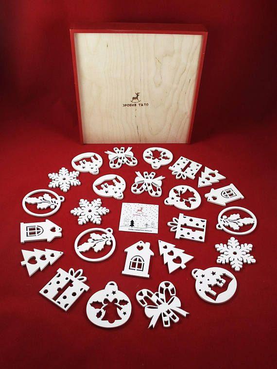 Natural Wooden Animals Ornaments Wood Christmas Decoration Laser - wood christmas decorations