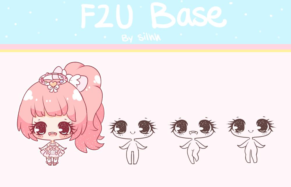 F2U Base 7 by Silhh Chibi, Drawing poses, Art reference