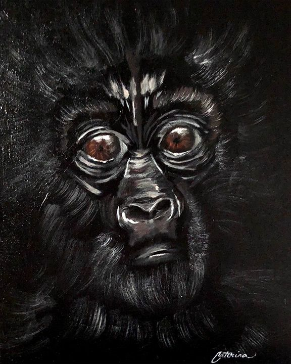 Artmasters Baby Gorilla Acryl Leinwand Tiermotiv Grosse