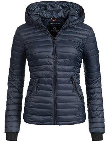 buy online 0f142 e370b Navahoo Damen Jacke Übergangsjacke Steppjacke Kimuk (vegan ...