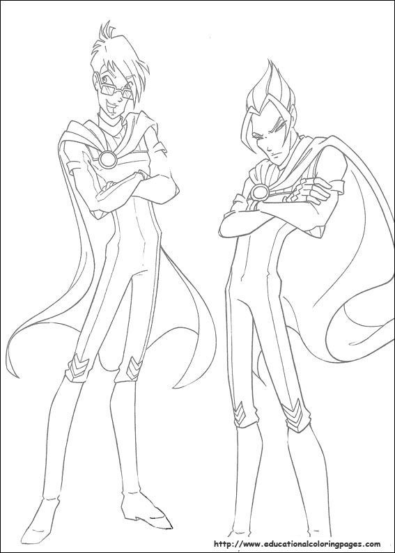 Winx Club Coloring Pages free For Kids   coloring pages   Pinterest