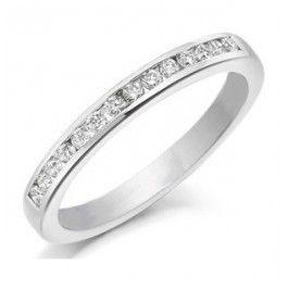 7c860289342c Anillo medio sinfin en oro blanco con diamantes  romatic