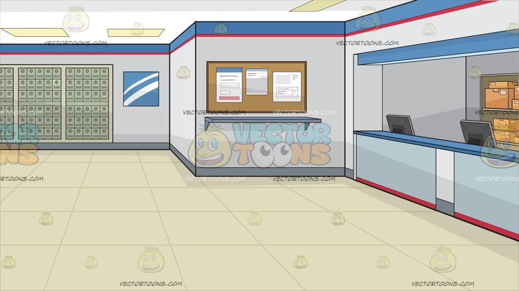 A Post Office Background Office Background Beige Tile Floor Grey Walls