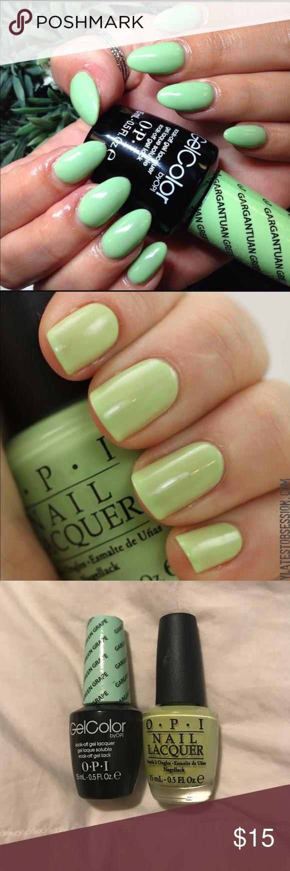 BUNDLE! OPI Gel Polish and regular polish | Green grape, OPI and Opi ...