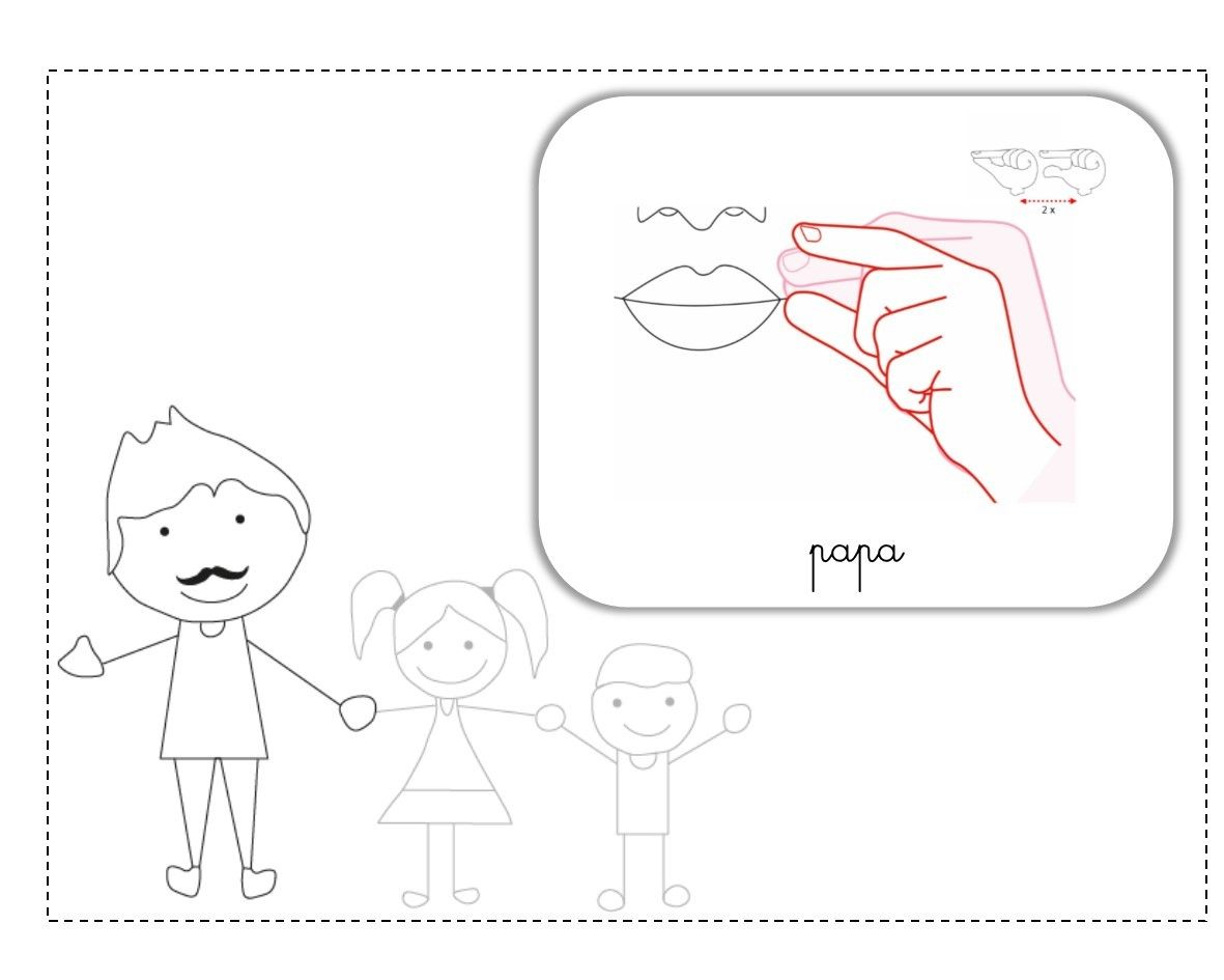 Demain LSF Illustration Makaton T Sign Language