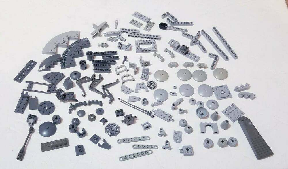 *NEW* 100 Pieces Lego Minifig Tool Gray HANDCUFF *BULK*