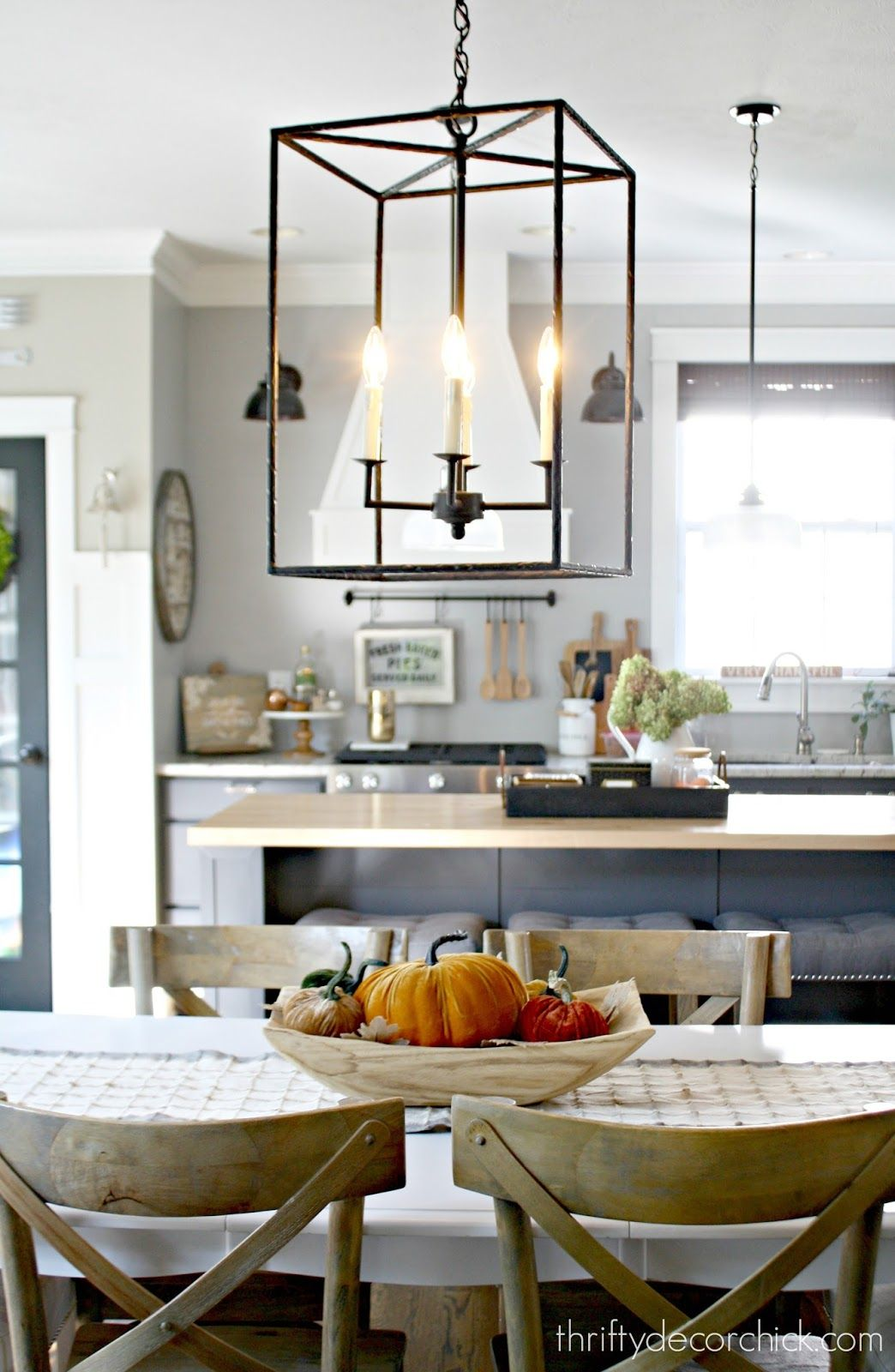 Cool light fixture over kitchen table