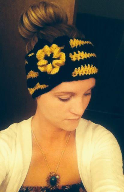 Mizzou colored ear warmers | Crochet | Pinterest