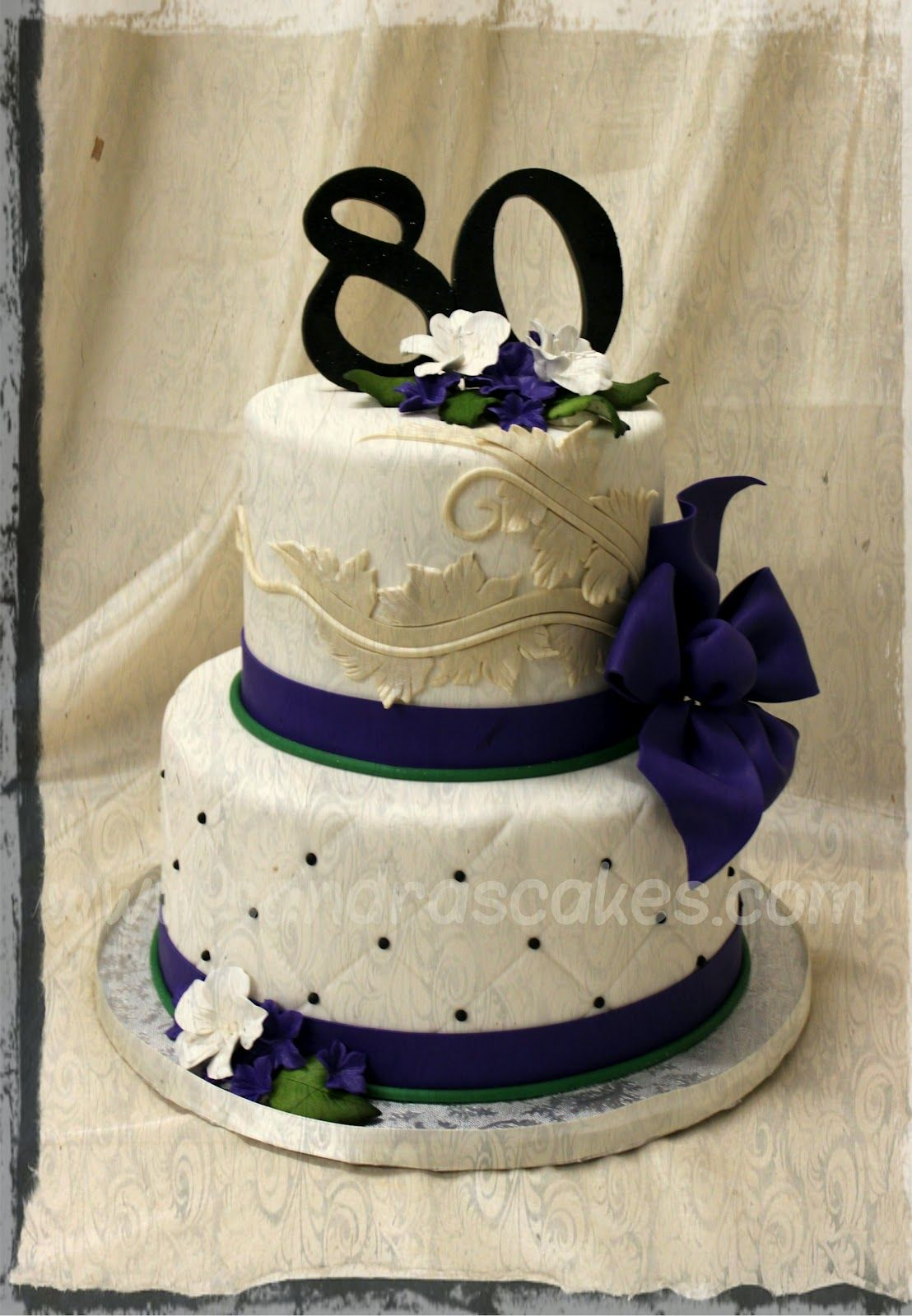 Elegant 80th Birthday Cakes