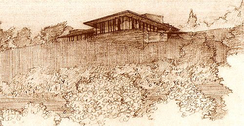 Frank Lloyd Wright. Usonian Style. Seamour and Gerte Shavin Residence, Chattanooga, Tennessee 1950