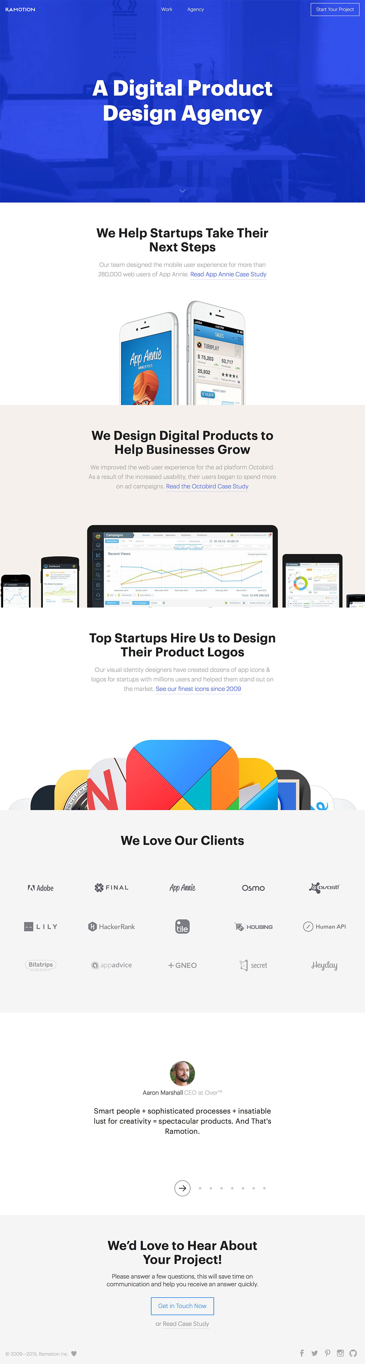 Ramotion Landing Pages Collection Web Design Digital Design Design Agency