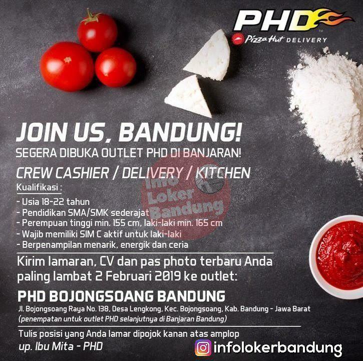 Lowongan Kerja Pizza Hut Delivery (PHD) Bandung Januari