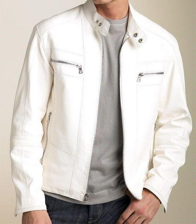 White leather jacket for men - Cheap online clothing stores ...