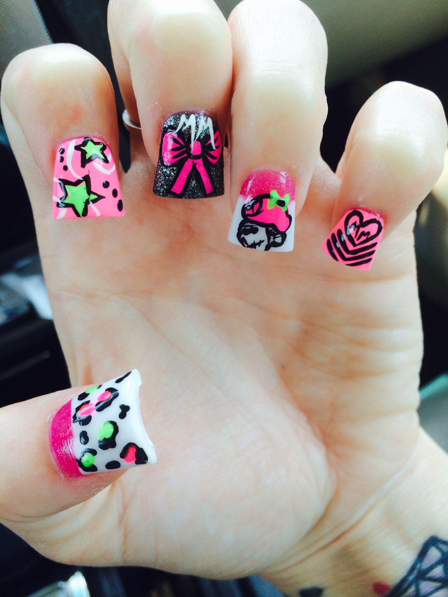 Metal Mulisha nails. So Cal nails. Bro Hoe nails. Badass nails. On ...
