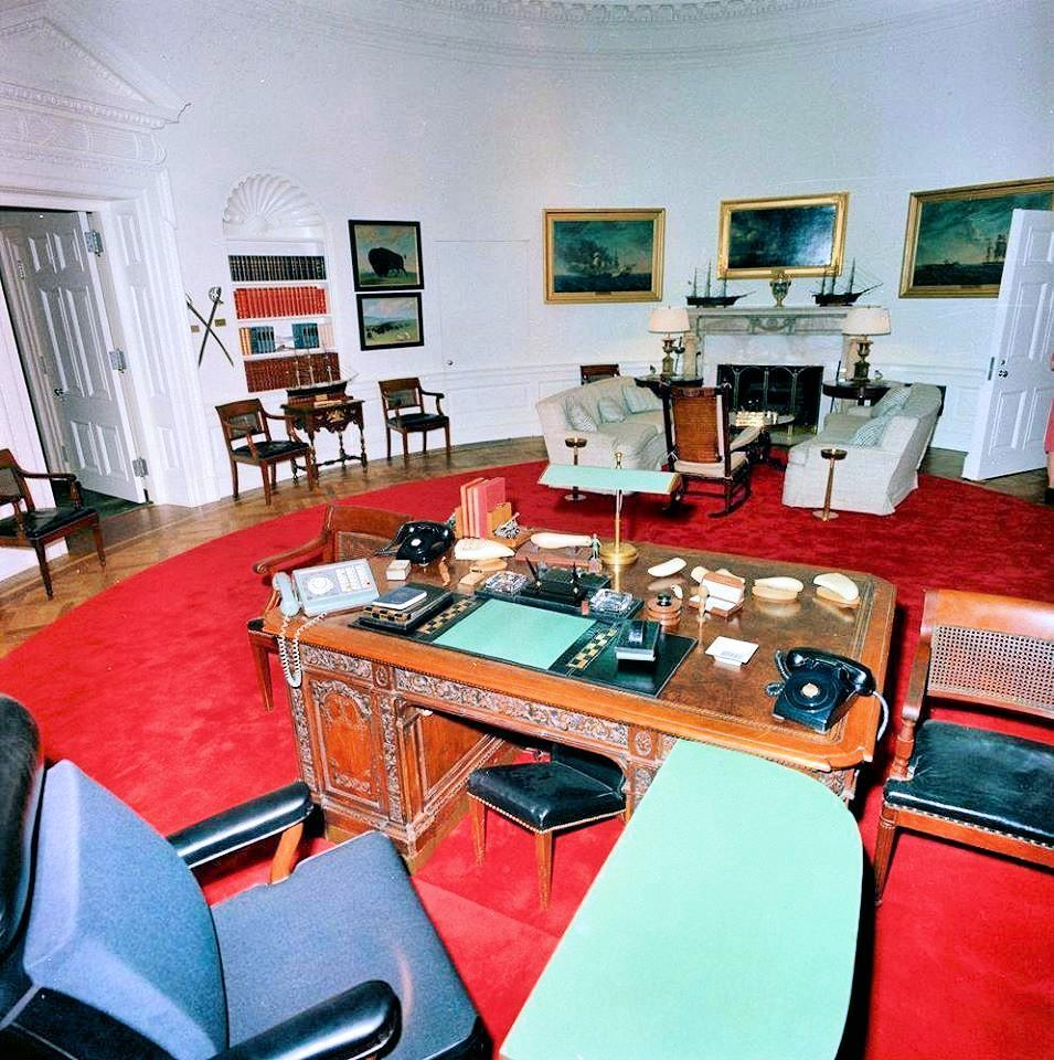 oval office rugs. While She And JFK Were In Texas, Jackie Used The Away Time To Have A New Red Rug Installed Oval Office. When Returned On It Was Place. Office Rugs