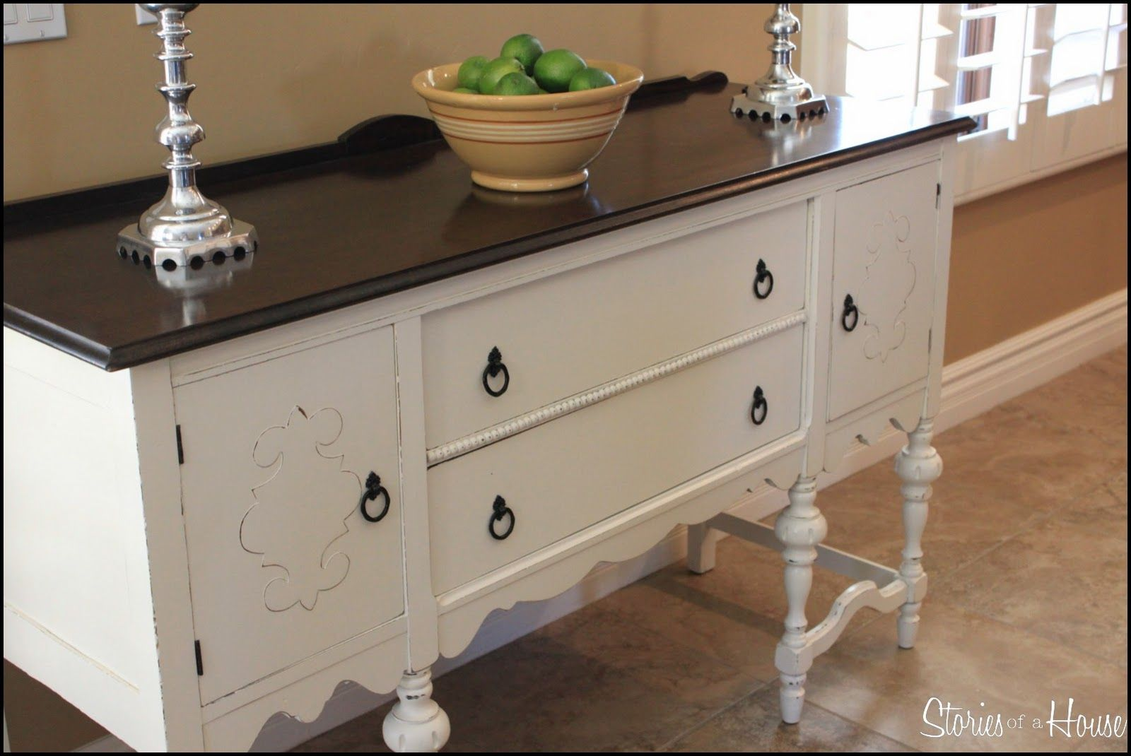 Antique buffet table furniture - 1000 Images About Painted Sideboards And Buffet Tables On Pinterest
