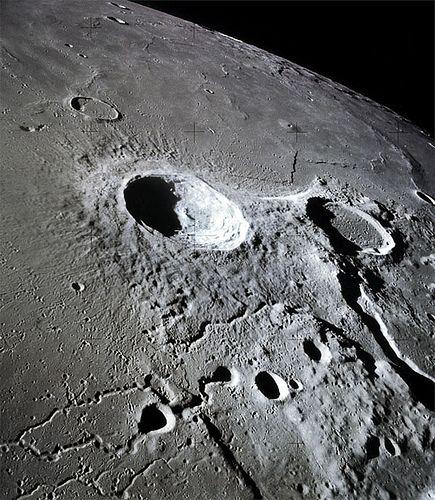 Hubble Telescope Image Of The Moon Black Amp White