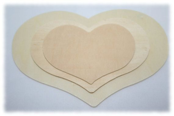 Large Wooden Country Hearts Wedding Hearts Wood By Toyingaround Wood Heart Guest Book Heart Guest Book Heart Wedding