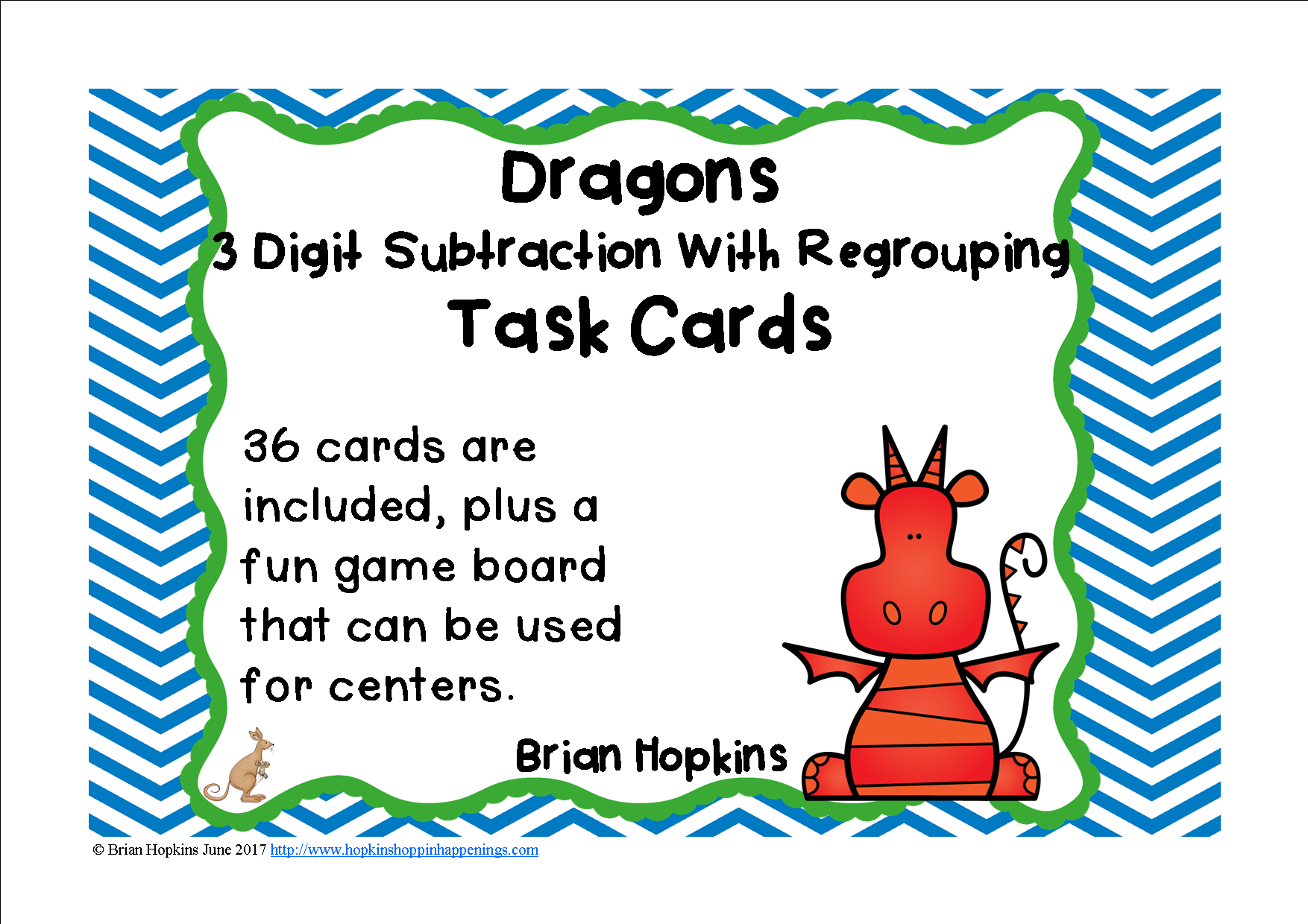Dragons Subtraction 3 Digit By 3 Digit Regrouping Race