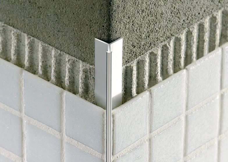 Tile Outside Corners Tile Edge Trim In Aluminium Concealed Outside Corner Mosaictec Rjf Tile Edge Tile Edge Trim Bathroom Design
