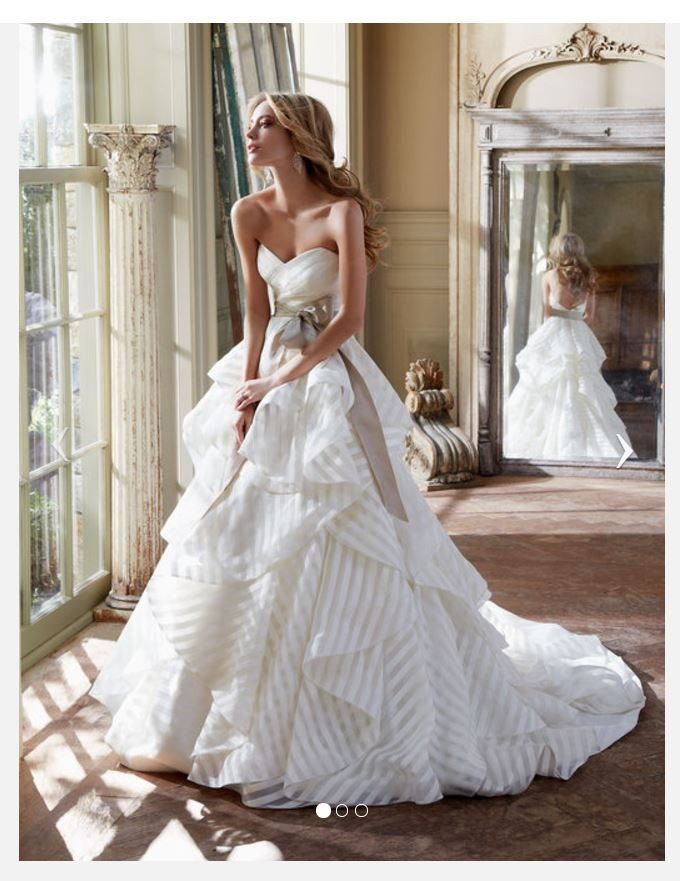 Hayley Paige \'Guindon\' size 4 used wedding dress front view on bride ...