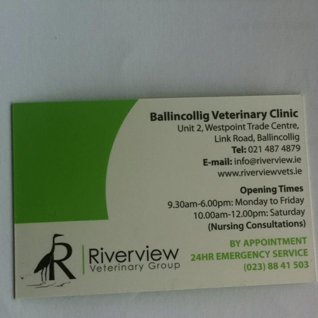 Ballincollig Vetinary Clinic Veterinary Clinic Clinic Emergency Service