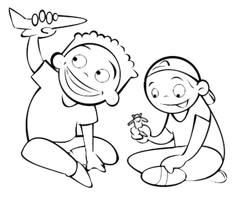 Ninos Dibujos Para Colorear Az Dibujos Para Colorear Dibujo De Ninos Jugando Dibujos Para Ninos Nino Jugando Dibujo