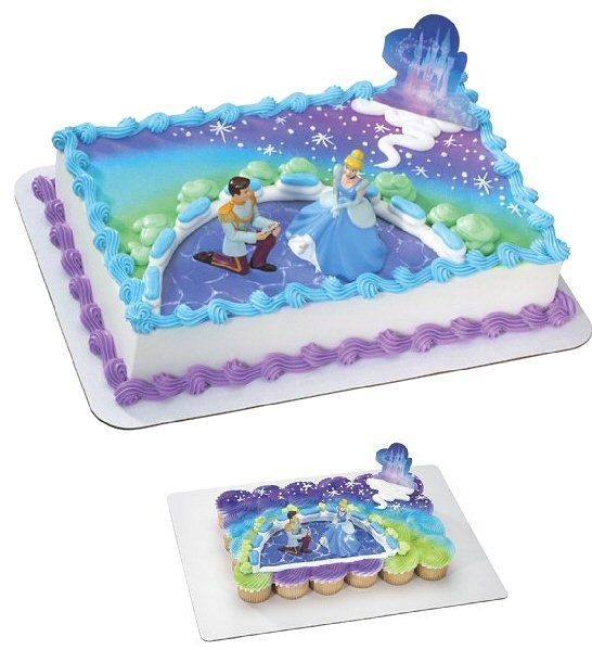 Awesome Cinderella And Prince Cake Topper With Images Cinderella Funny Birthday Cards Online Overcheapnameinfo