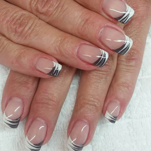 fingern gel geln gel style schwarz wei frenchnails naturn gel naildesigns makeup up. Black Bedroom Furniture Sets. Home Design Ideas