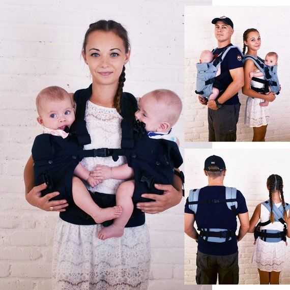 833af737fd4 Malishastik Twin Baby Carrier Front Adapt Black (twins baby carrier ...