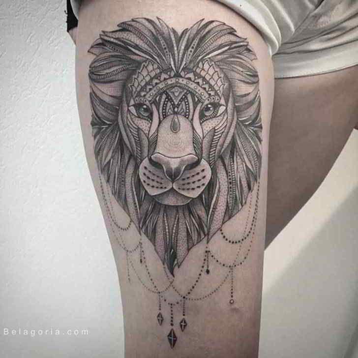 37 Awesome Leo Tattoos For Girls: 75 Tatuajes De Leones Para Mujer 2017, Brillantes!