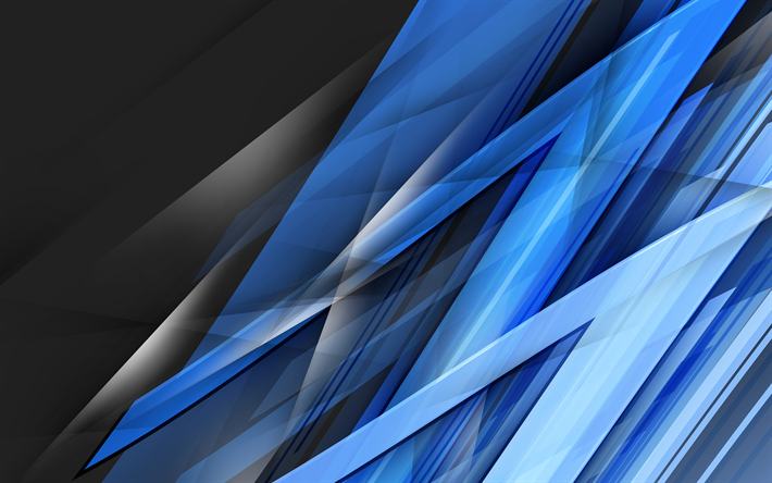 Download Wallpapers Blue Shards 4k Lines Dark Background Art Abstract Material Besthqwallpapers Com Live Wallpaper Iphone Iphone Wallpaper Wallpaper