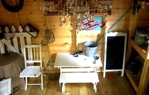 Elegant Playhouse Furniture From Flea Market Or Garage Sale