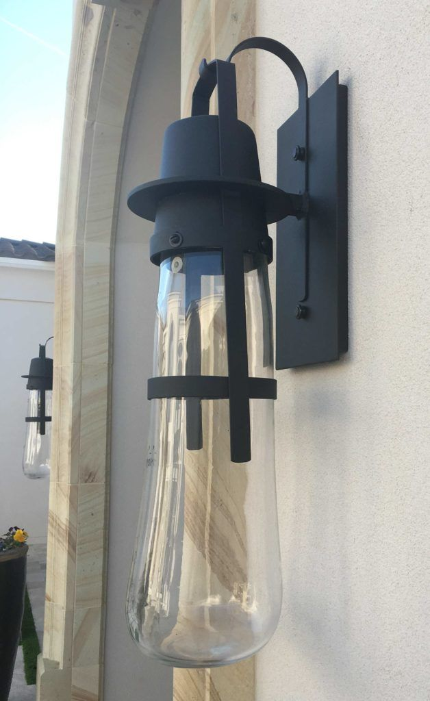 custom led wall sconce outdoor lighting installation blown glass