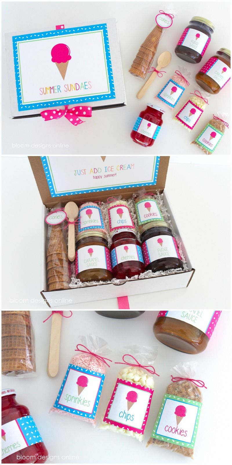 Summer sundaes hostess gift such a fun gift and perfect for ice summer sundaes hostess gift such a fun gift and perfect for ice cream night with negle Images