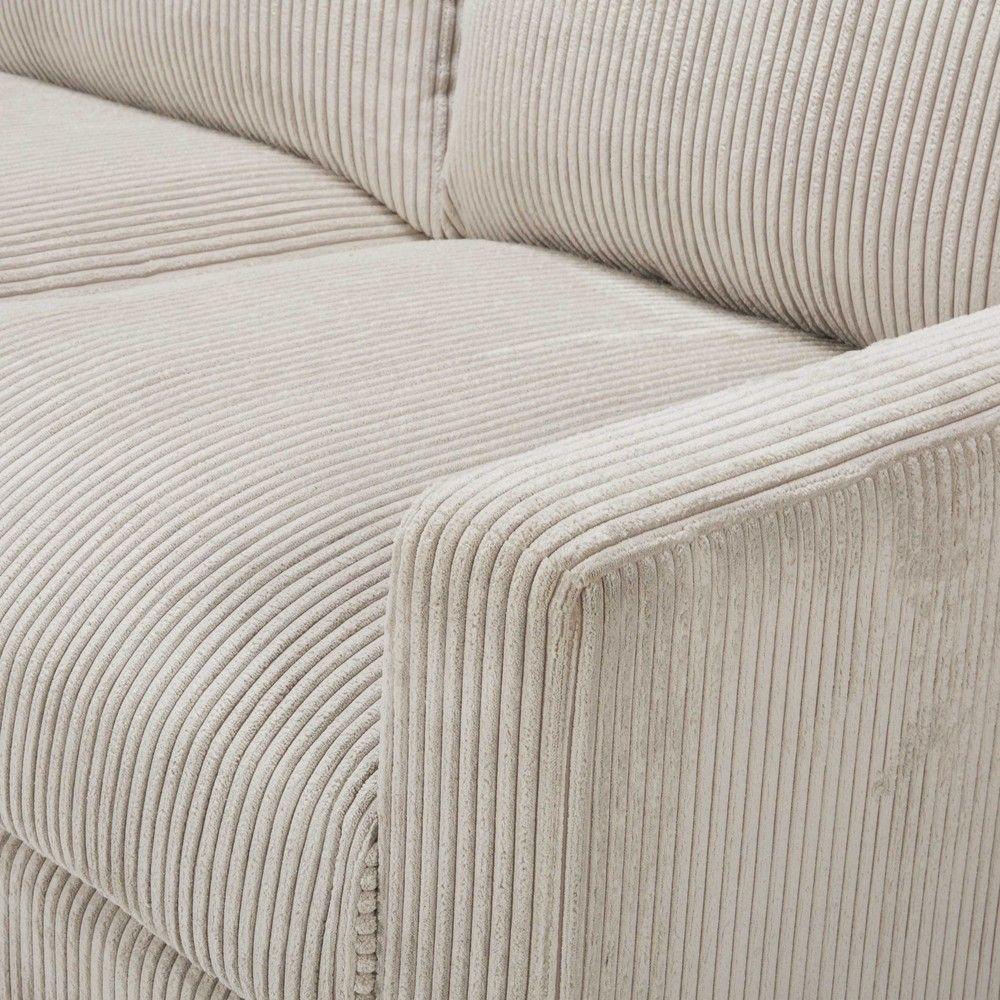 Canapé En Velours Cotelé canapé 4 places en velours côtelé gris clair en 2020