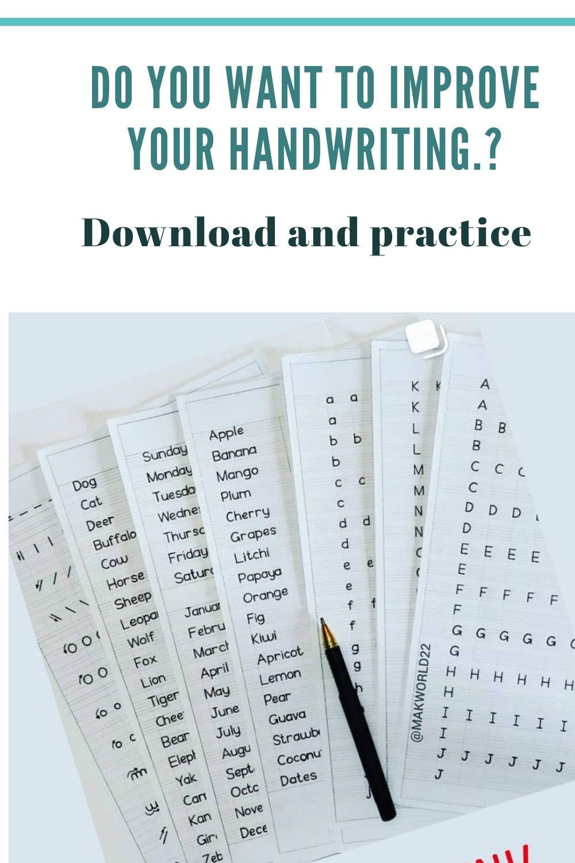 Printable Print Handwriting Worksheets(A412Pages