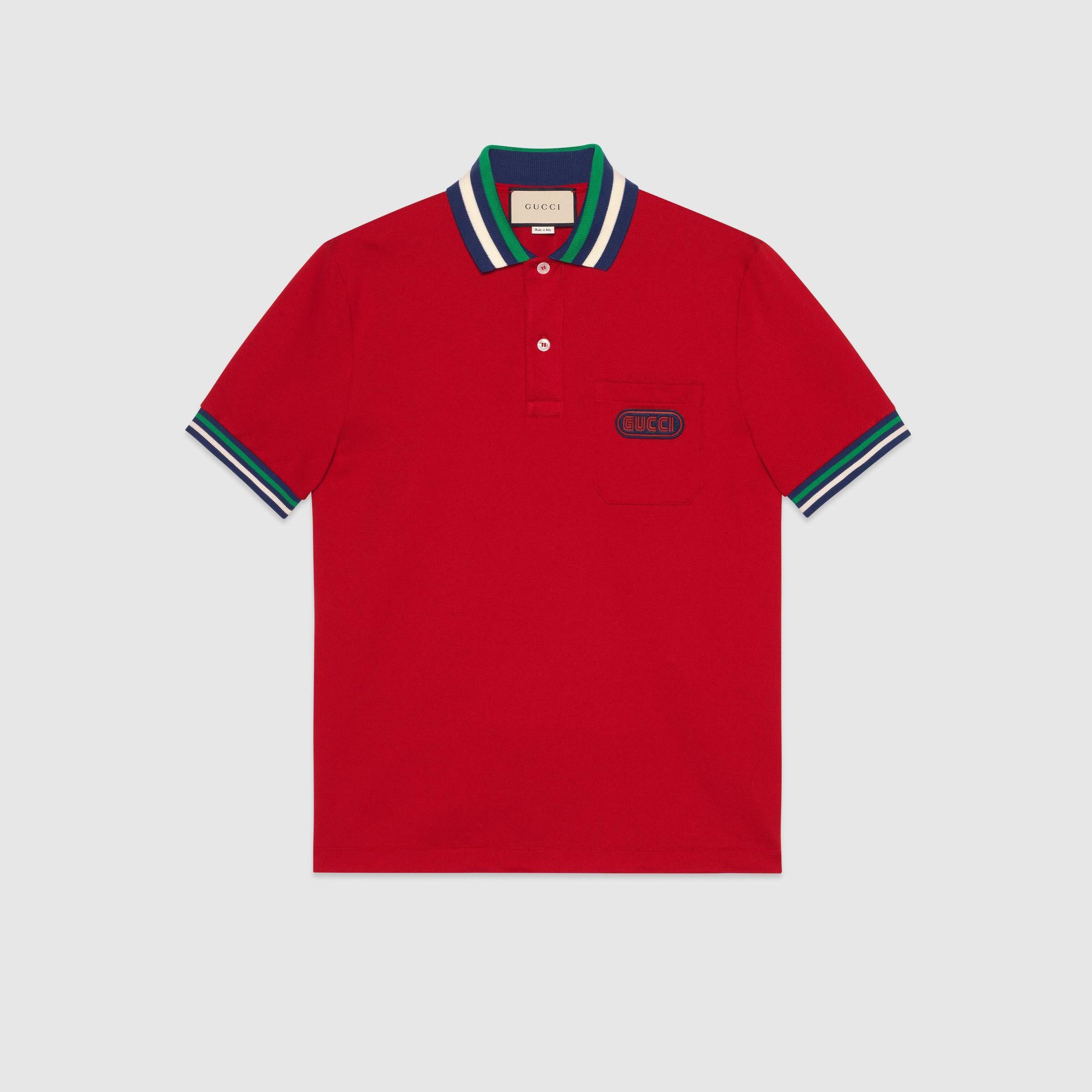 3a2f5b03d8f6 Polo with Gucci patch - Gucci Men's T-shirts & Polos 527727X9X766527 ...