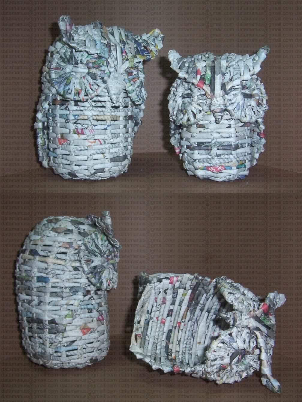 Cester a en papel de peri dico cester a china aprender - Manualidades con papel periodico ...