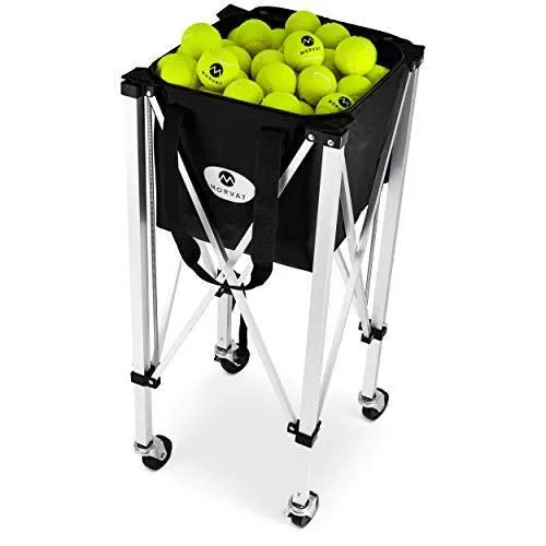 Morvat Tennis Ball Cart Holds Up To 150 Tennis Balls Tennis Ball Hopper Basket Tennis Ball Basket Tennis Golfiya The Sports Store In 2020 Tennis Gifts Tennis Balls Tennis Ball