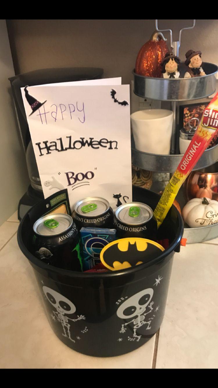 Halloween gift basket ideas for boyfriend diy halloween
