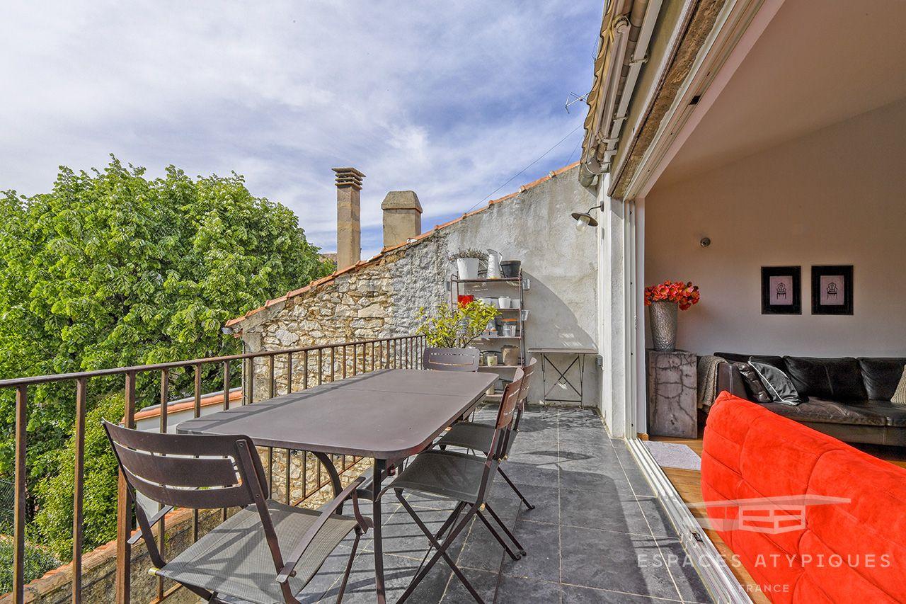 Agence Immobiliere Montpellier Espaces Atypiques Duplex Terrasse Petite Copropriete
