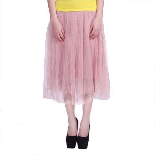 Pastel Bubblegum Pink Sheer Layered Tulle Skirt $12